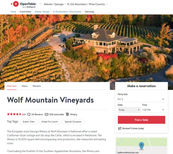 Wolf Mountain Vineyards Restaurant Reservations from OpenTable