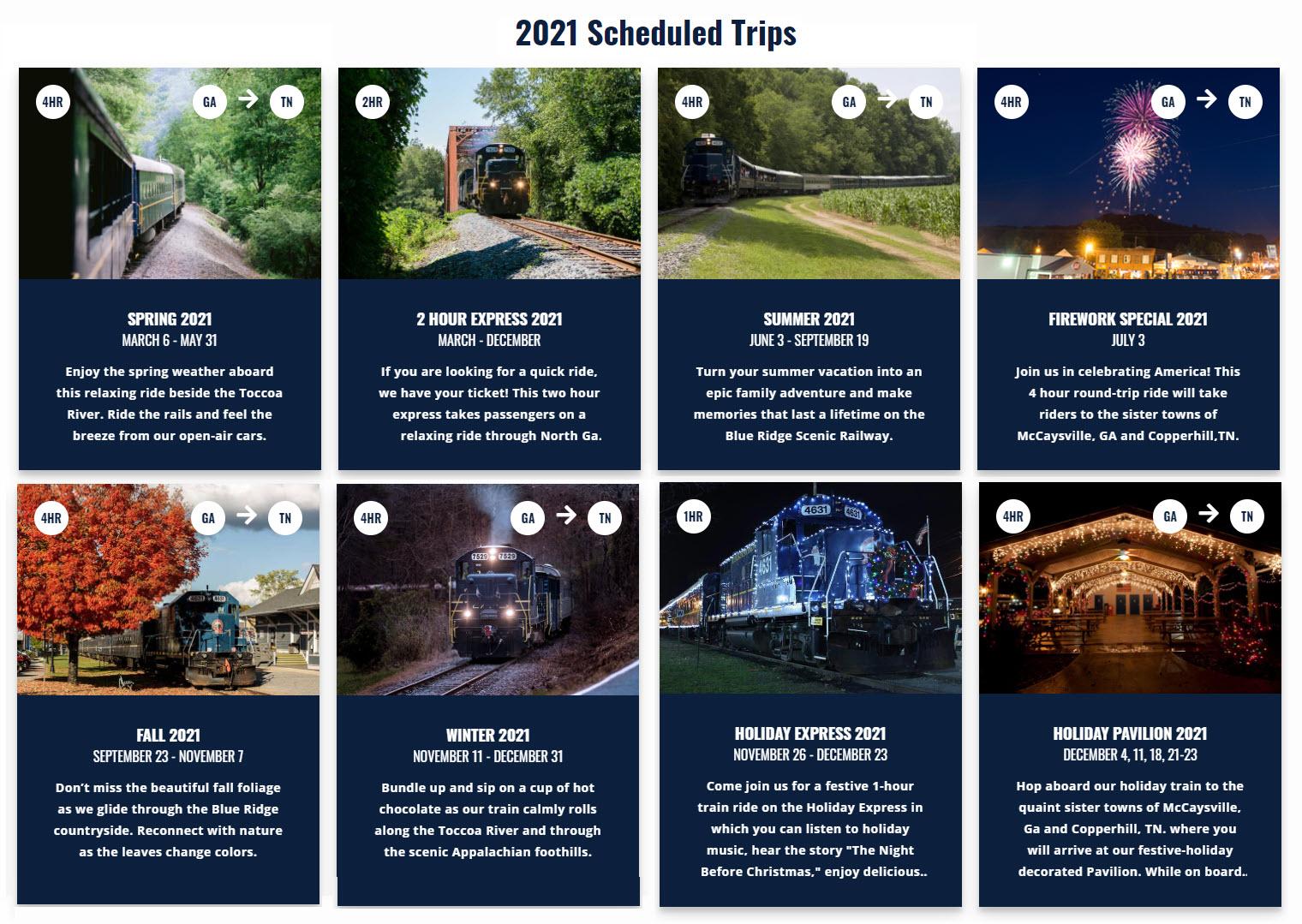 Blue-Ridge-Scenic-Railway-2021-Schedule