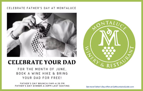 Bring Dad on Your Wine Hike for Free in June at Montaluce!