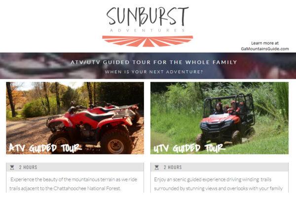 ATV Rentals UTV Rentals North Georgia Sunburst Adventures