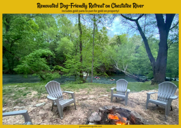 Dog-Friendly Rental on Chestatee River includes Several Pans for Gold Panning