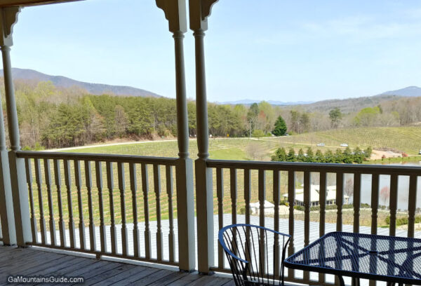Dining on the Covered Deck at Frogtown Cellars in Dahlonega, GA - GaMountainsGuide.com