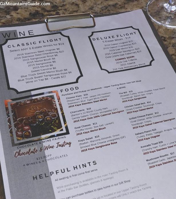 Kaya-Vineyard-Winery-Menu-Wine-Tasting-Room-Food