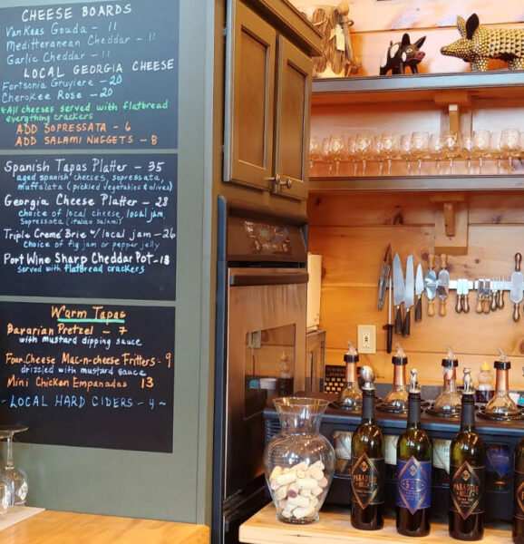 Paradise Hills Winery Tasting Room Cheese & Tapas Menu