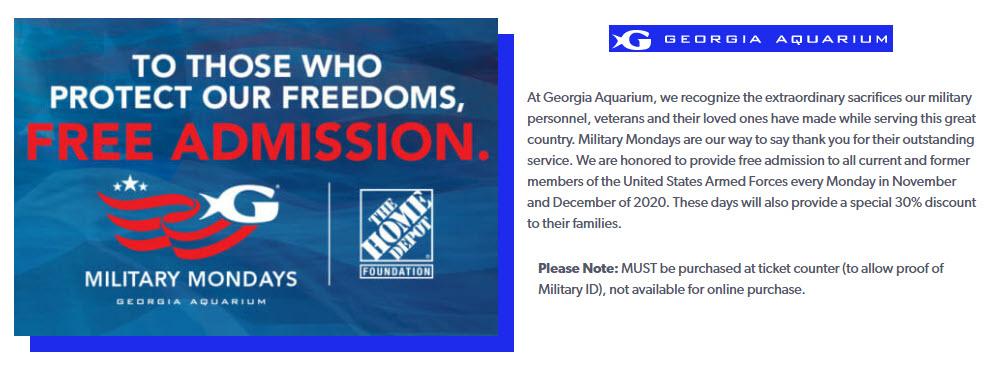 Military-Mondays-2020-Georgia-Aquarium-Free-Admission