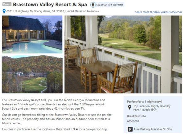 Book a romantic getaway at Brasstown Valley Resort & Spa